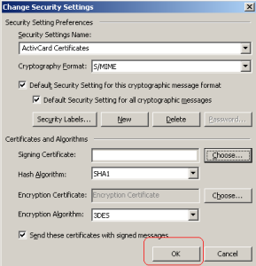 cac change security settings